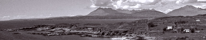 View of Tarskavaig and the Cuillin